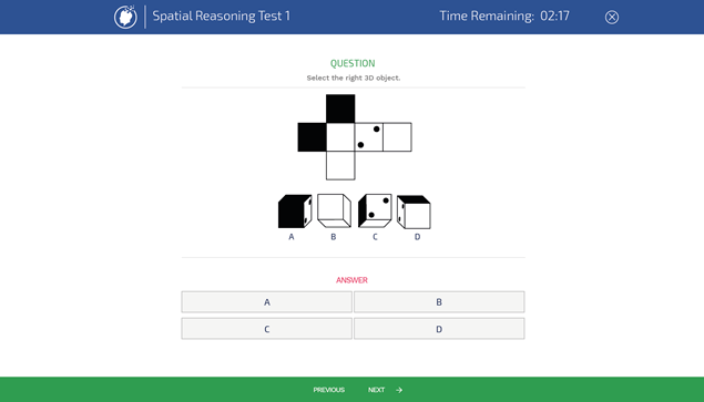 Free Spatial Reasoning Practice Tests | Assessment-Training com